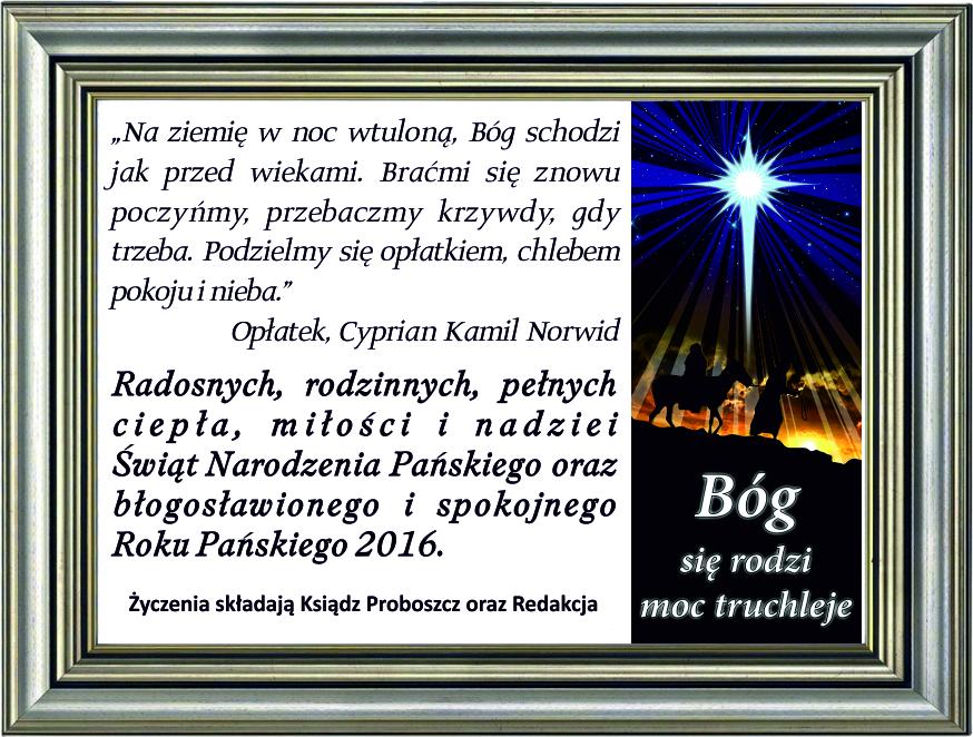 zyczenia Boże Narodzenie parafia