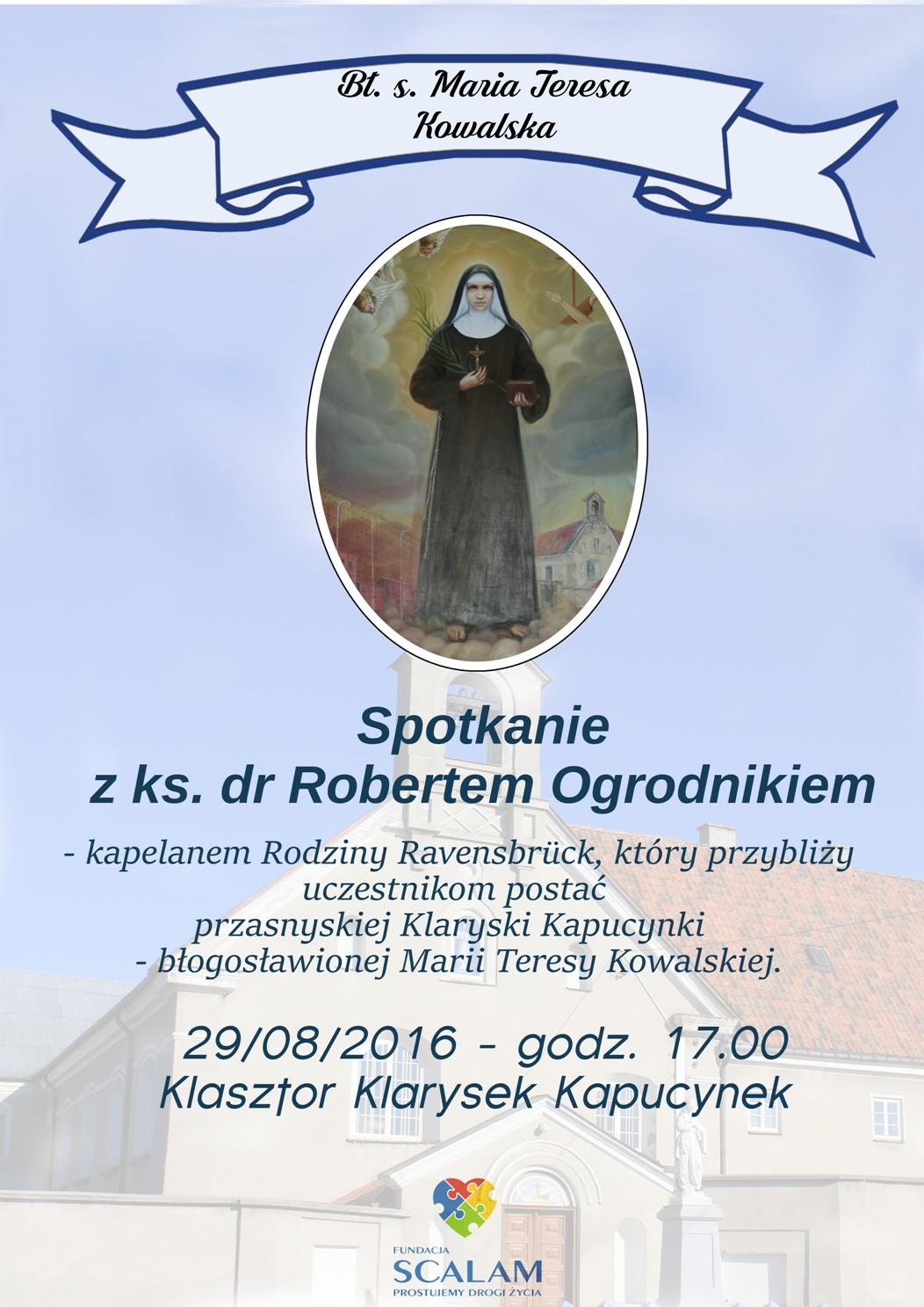 Plakat ks. Ogrodnik v2